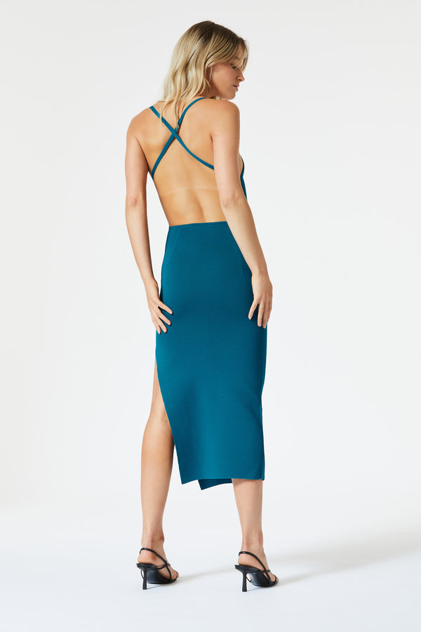 San Sloane Ester Midi Dress Teal