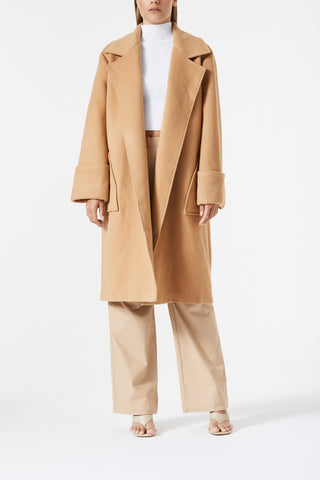 San Sloane Yvette Wool Coat Tan