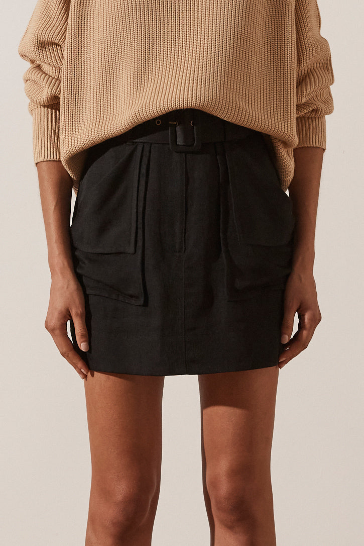 Shona Joy Marie Mini Skirt Black