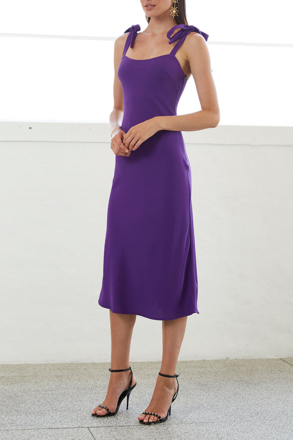 By Johnny Prince Bias Slip Midi Dress