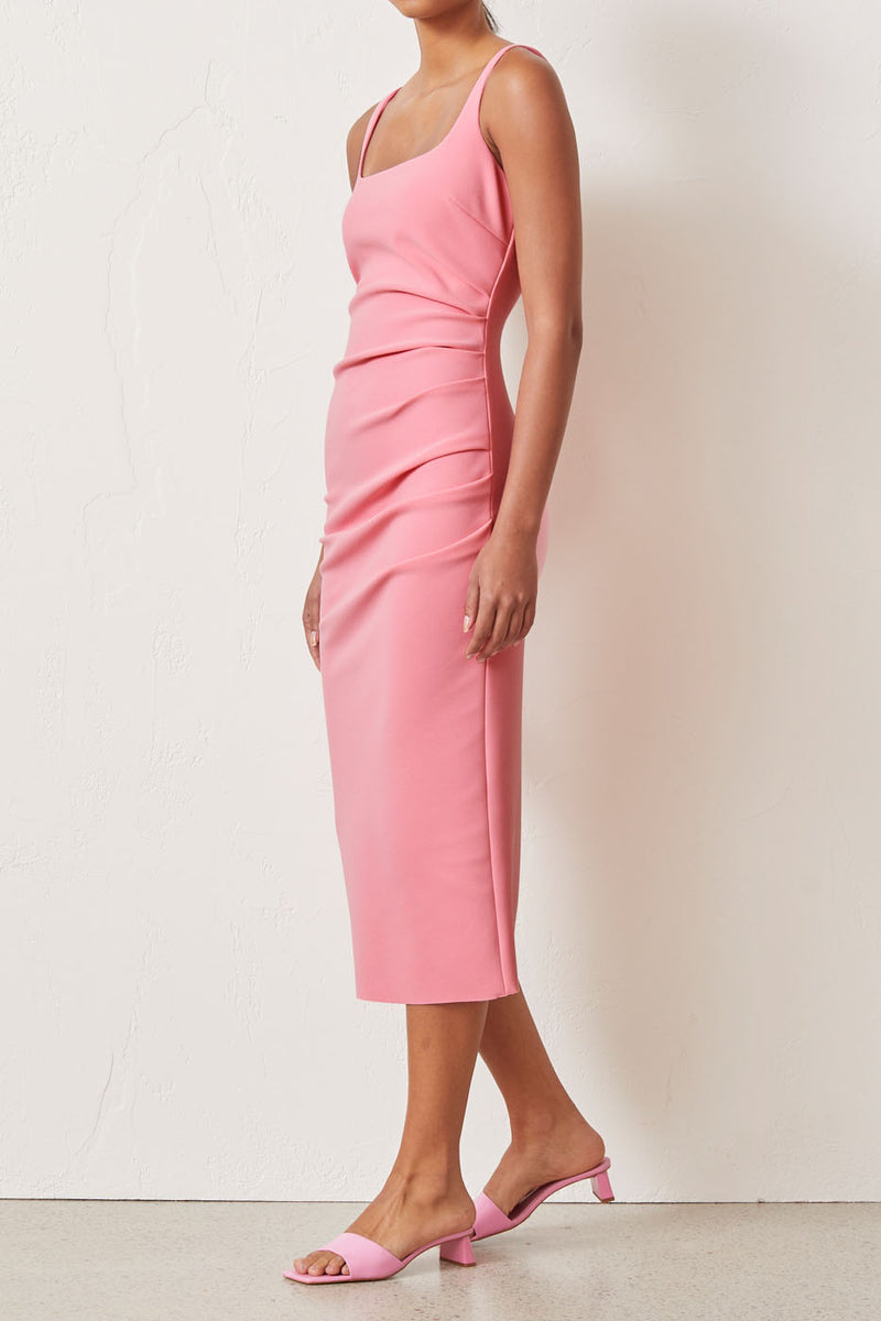 Bec and Bridge Paloma Midi Dress Flamingo