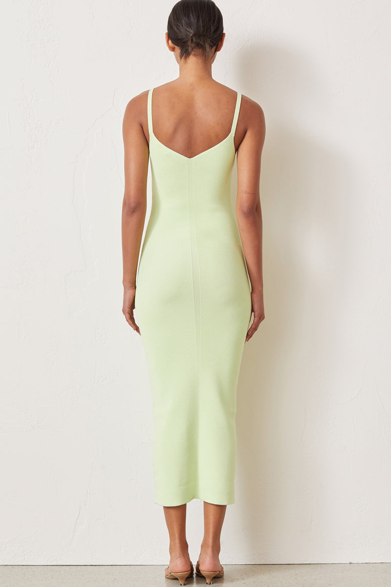 Bec and Bridge Citrus Club Knit Midi Dress Key Lime