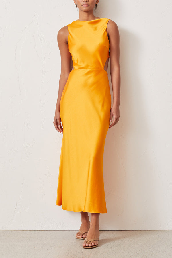 Bec and Bridge Seraphine Cutout Dress Tangerine