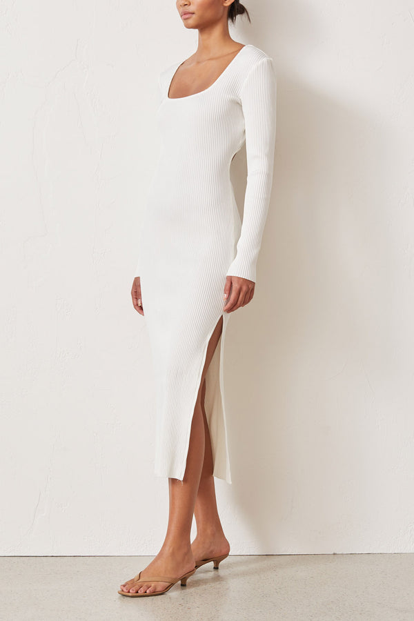 Bec and Bridge Noir Et Blanc Long Sleeve Midi Ivory