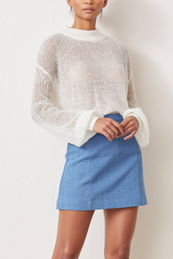 Bec and Bridge Albi Knit Jumper Ivory