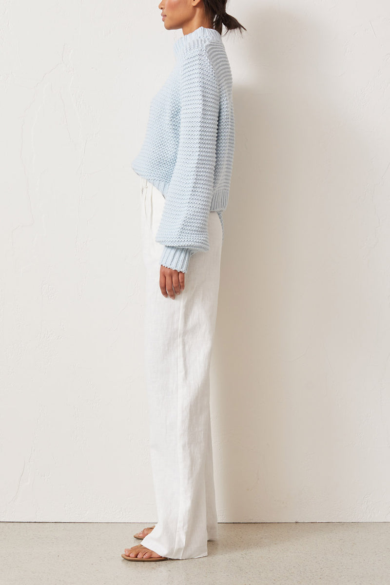 Bec and Bridge Elsa Knit Jumper Sky Blue