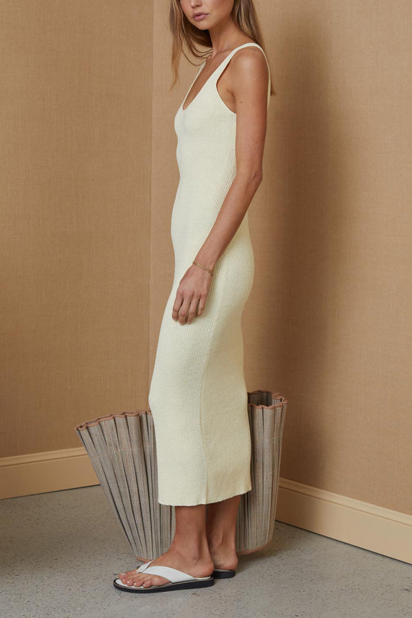 Bec and Bridge Mimi Knit Midi Dress Butter