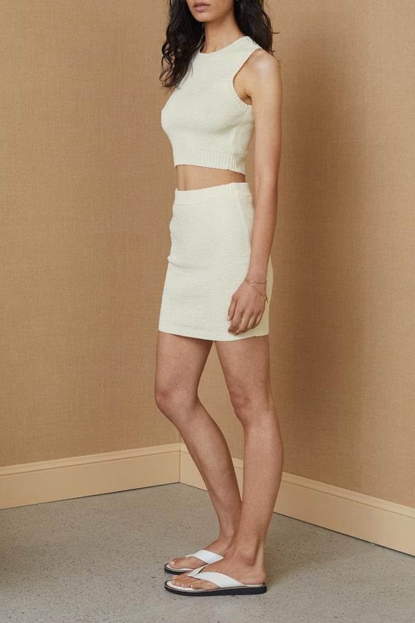 Bec and Bridge Mimi Knit Mini Skirt Butter