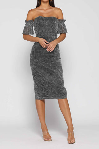 Elle Zeitoune Ashley Dress Black Silver