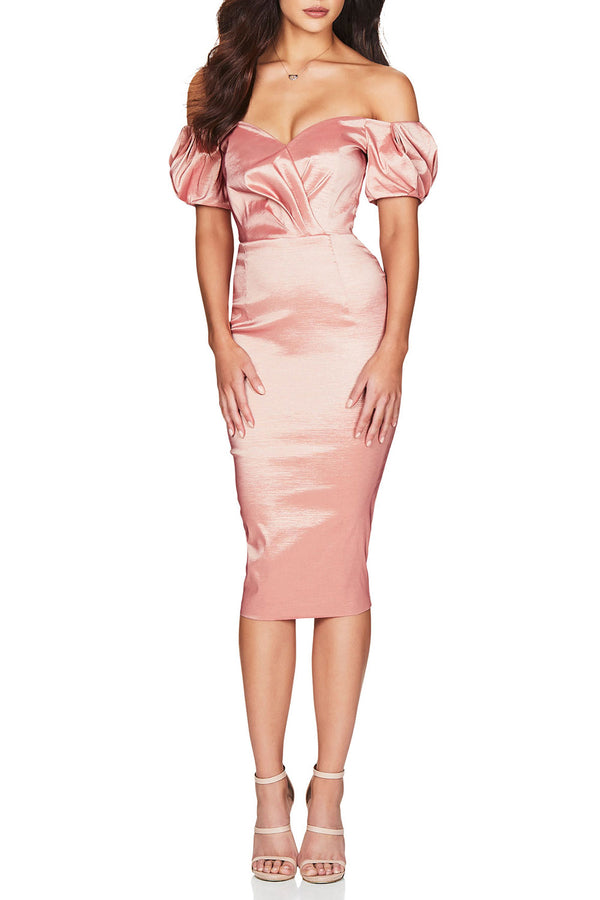Nookie Candice Midi Dress Blush
