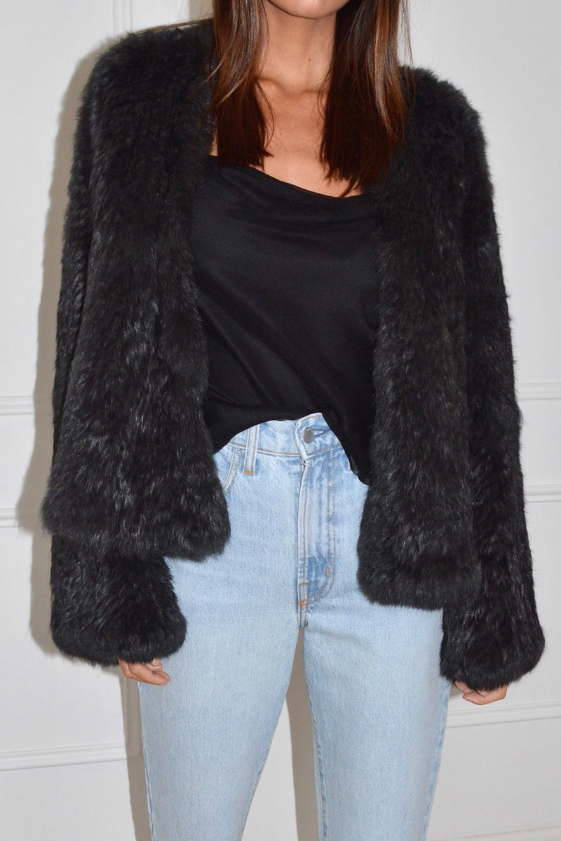 Harper Fur Jacket Ash