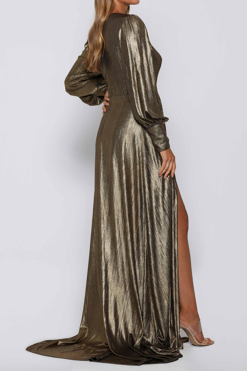 Elle Zeitoune Dion Gold Dress