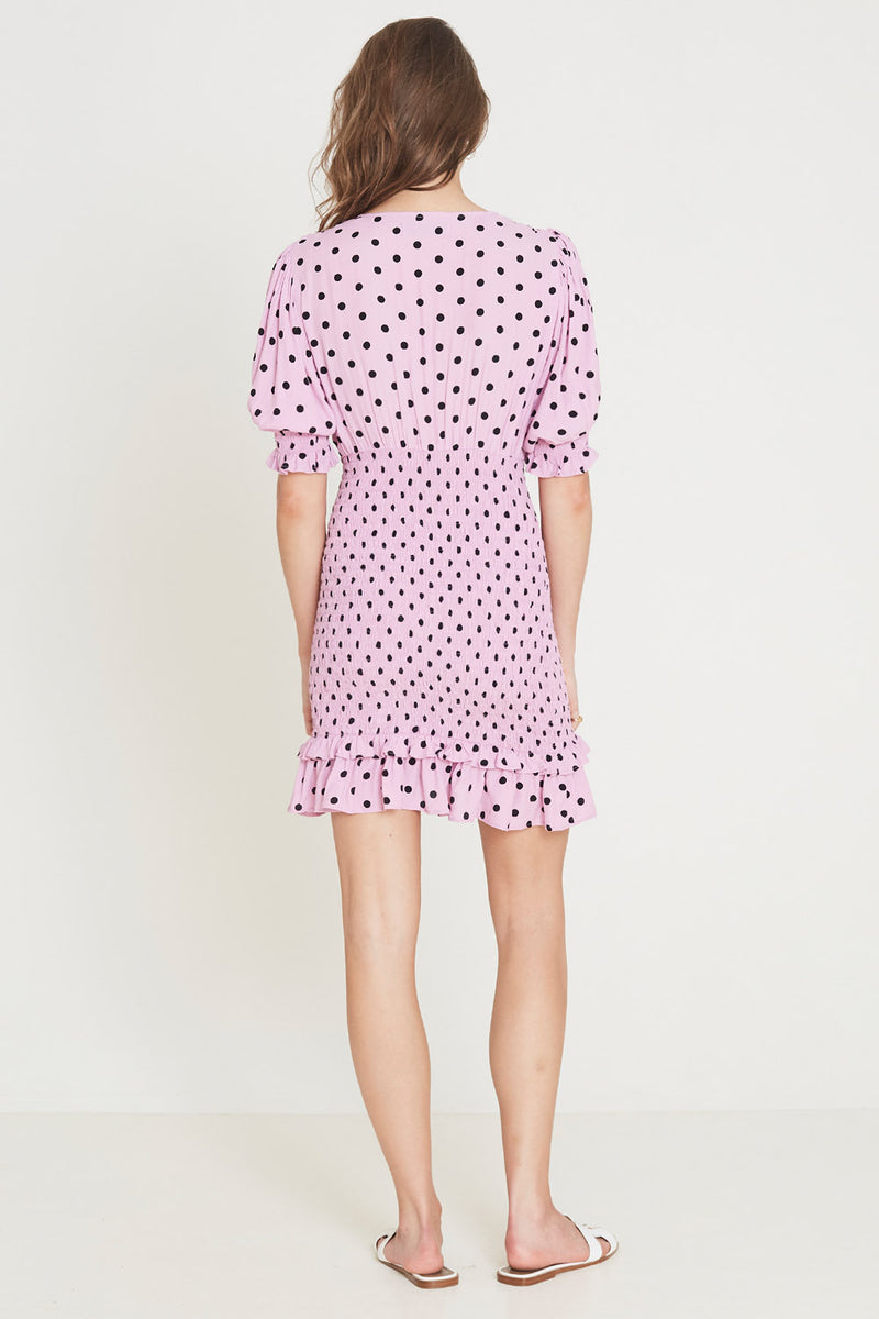Faithfull Margherita Mini Dress Sylvie Dot Print