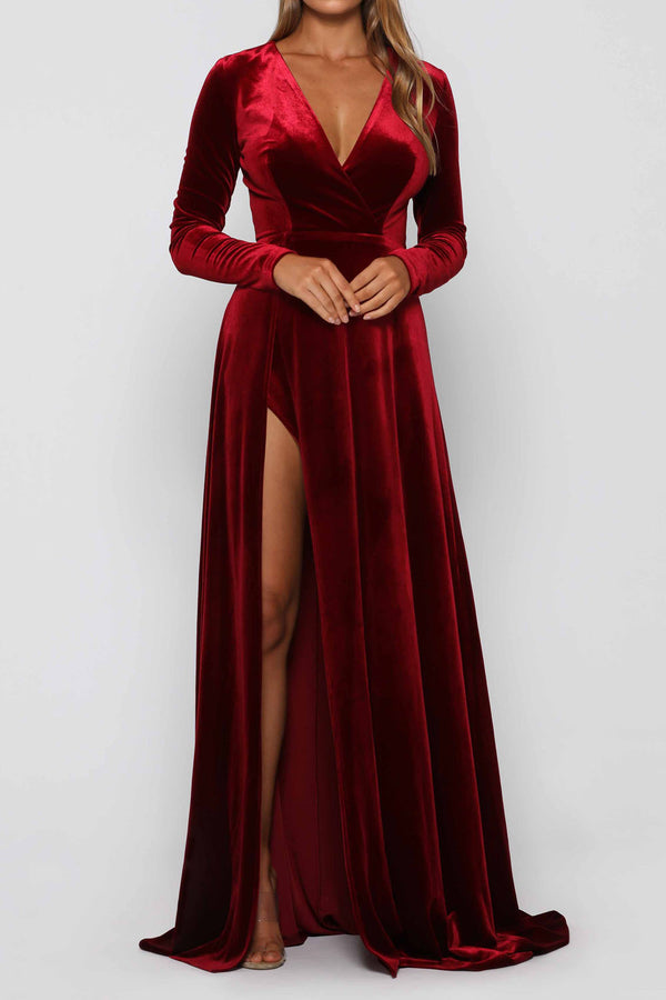 Elle Zeitoune Fontaine Gown Wine