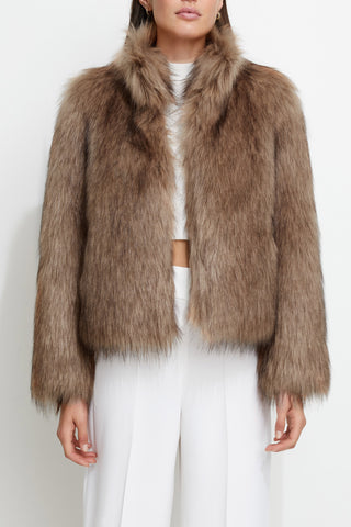 Unreal Fur Fur Delish Jacket Mocha