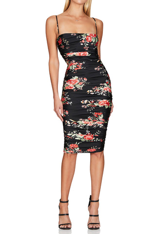 Nookie Garden Party Midi Dress Black