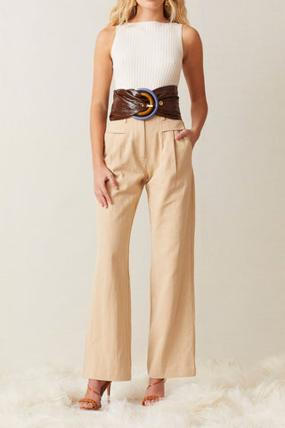 Bec and Bridge Harlow Pant Sand