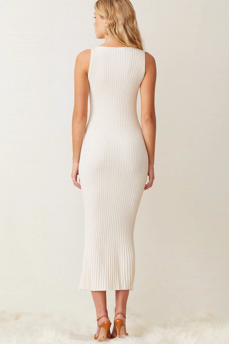 Bec and Bridge White Water Midi Dress