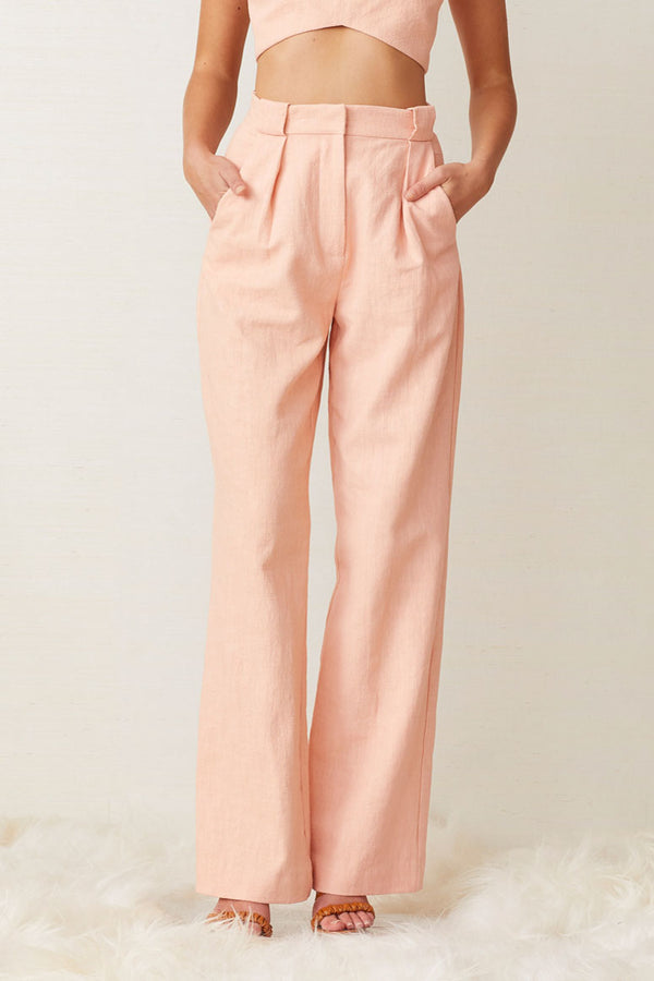 Bec and Bridge Coral Club Pant Peach