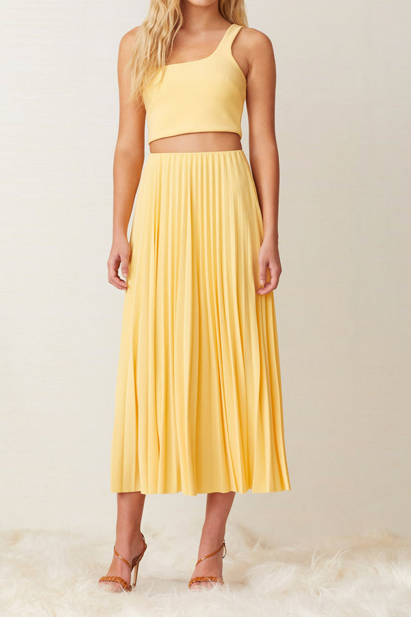 Bec and Bridge Sunny Pleated Midi Skirt