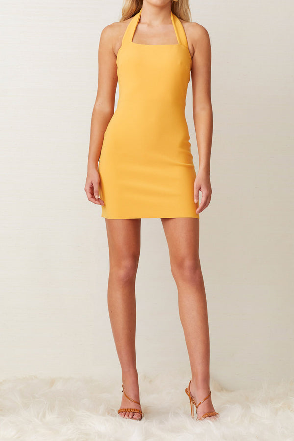 Bec and Bridge Ariel Mini Halter Dress Mango
