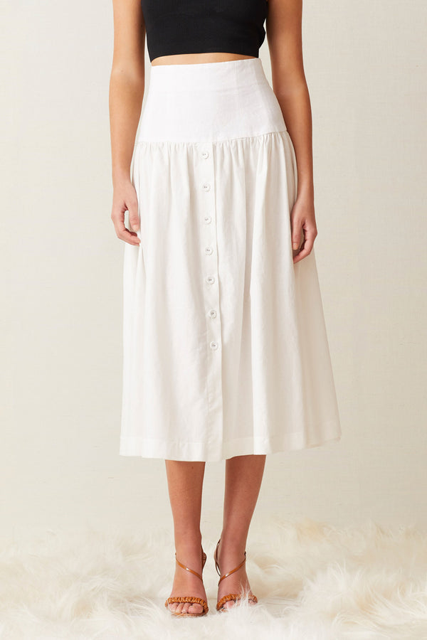 Bec and Bridge Puka Shell Midi Skirt