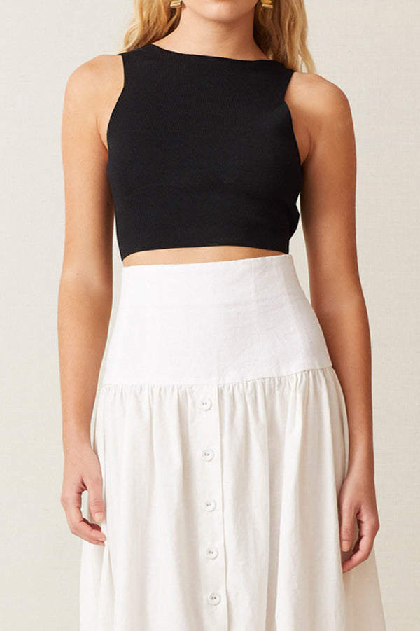 Bec and Bridge Sorbet Summer Twist Top Black
