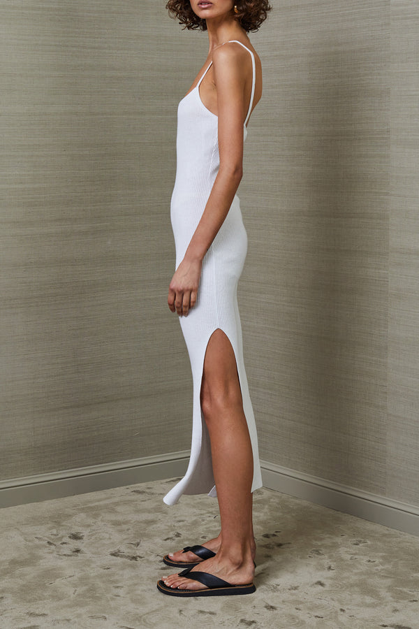 Bec and Bridge Riviera Split Midi Dress Ivory