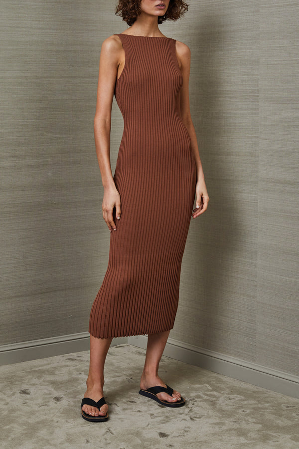 Bec and Bridge Deja Vu Midi Dress Chocolate