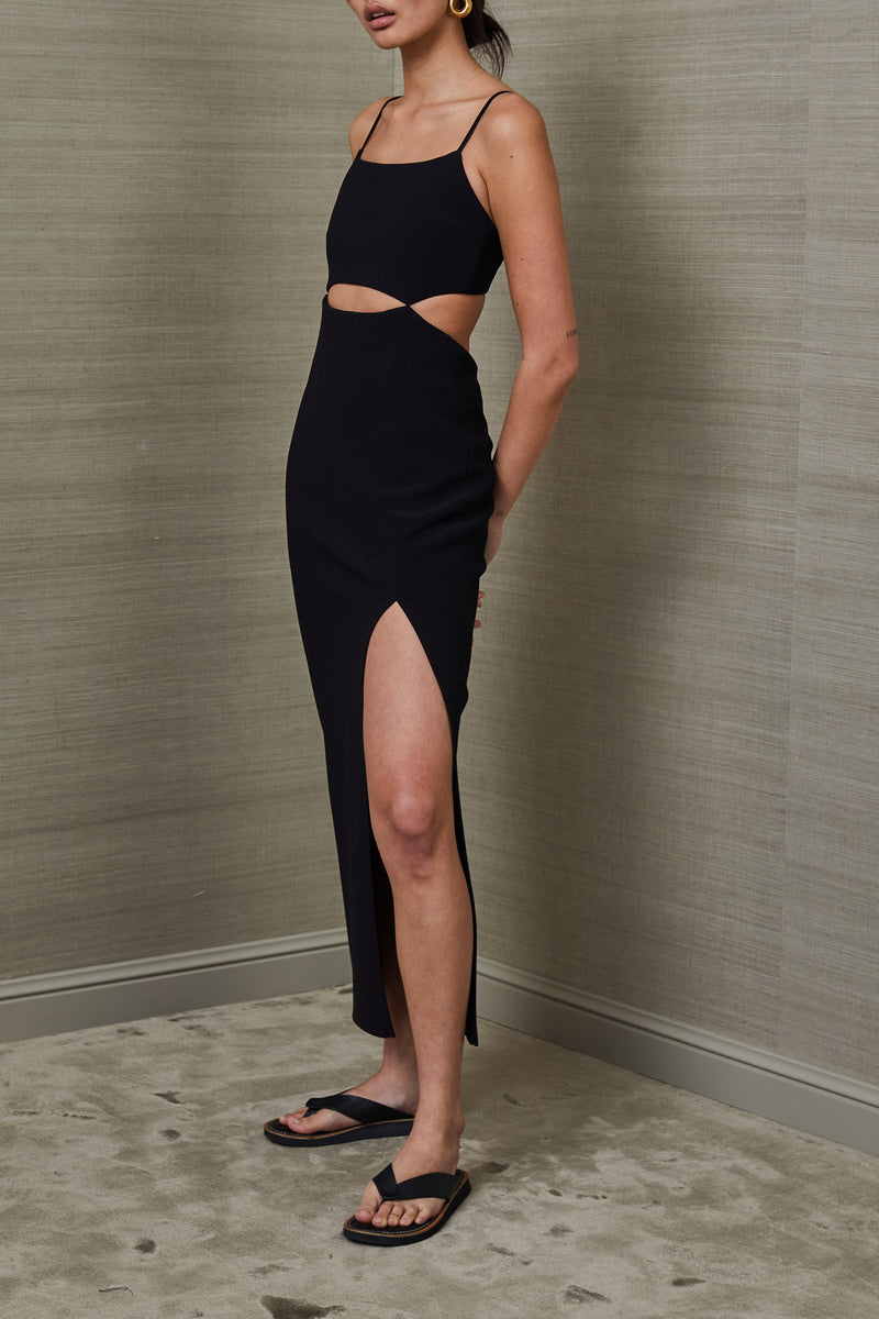 Bec and Bridge Faye Midi Dress Black