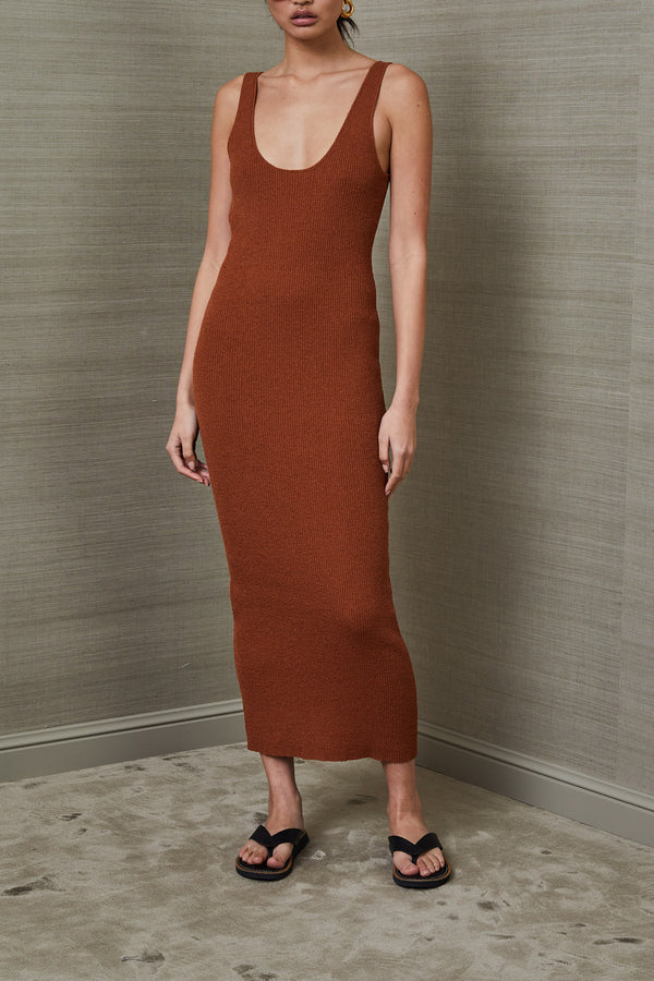 Bec and Bridge Bowie Midi Dress Rust