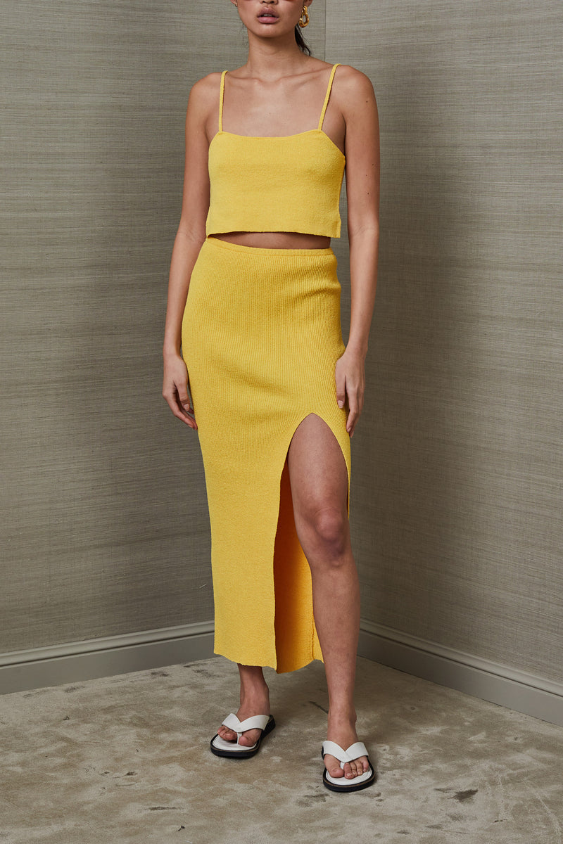 Bec and Bridge Bowie Skirt Mustard