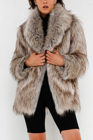 Unreal Fur Premium Rose Jacket Natural