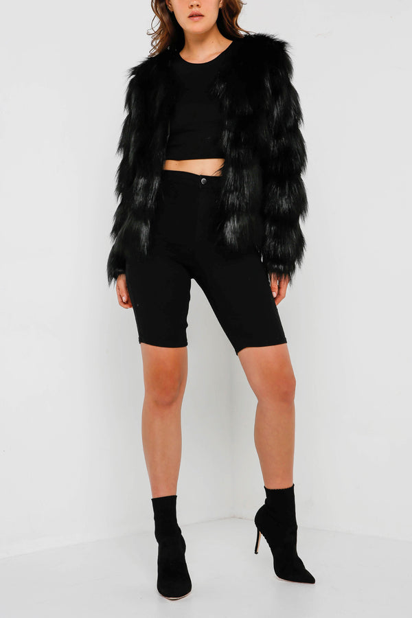 Unreal Fur Elements Jacket Black