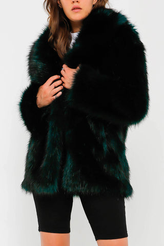 Unreal Fur Premium Rose Jacket Deep Teal