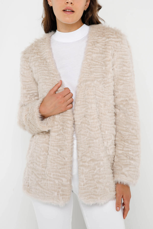 Unreal Fur Ice Cream Faux Fur Jacket