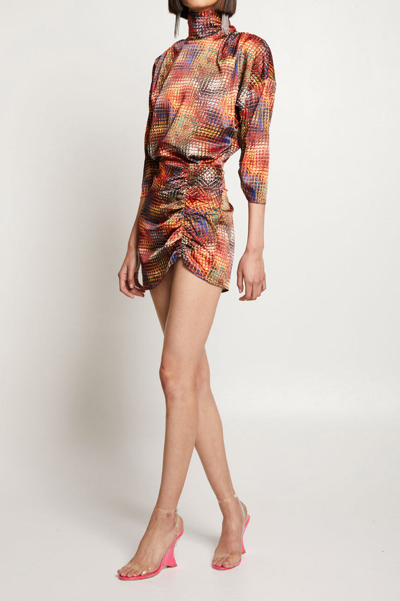 Winter Muse Kenzie Dress Disco Print