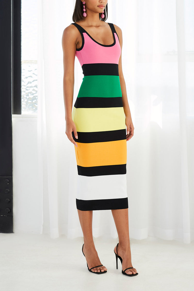By Johnny All Sorts Rib Midi Dress