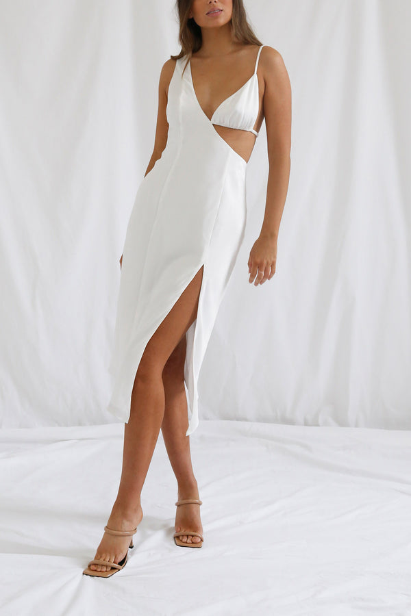 San Sloane Orisis Dress White