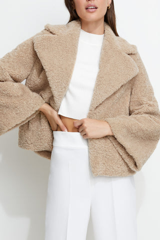 Unreal Fur Madam Shearling Jacket
