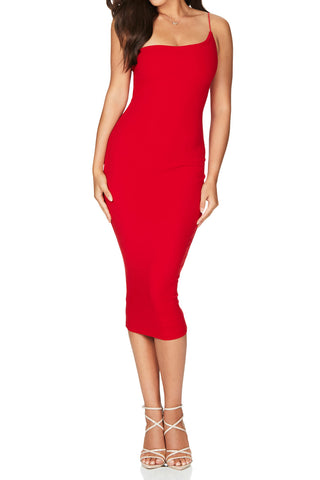 Nookie Penelope Midi Dress Red