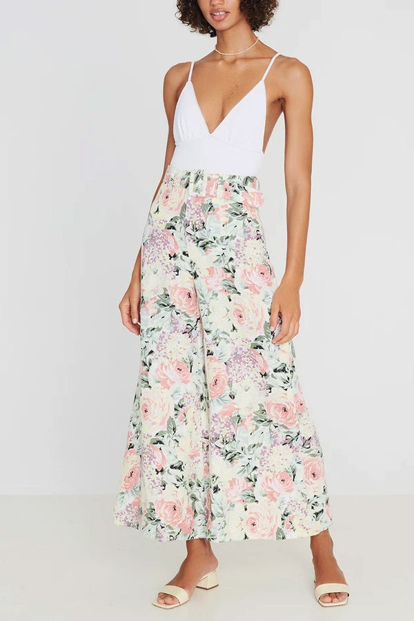 Faithfull Rose Wide Leg Pants Venissa Floral