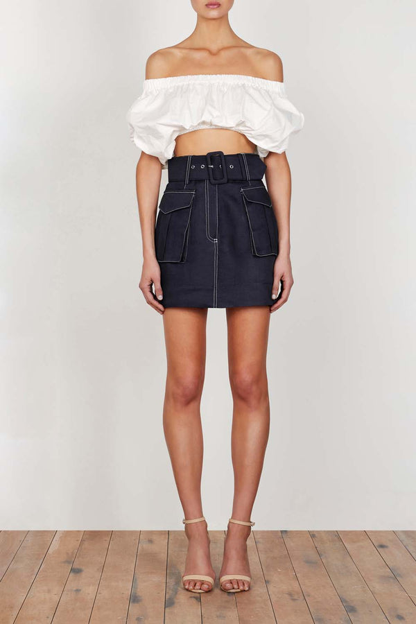 Shona Joy Ellington Utility Mini Skirt Ink