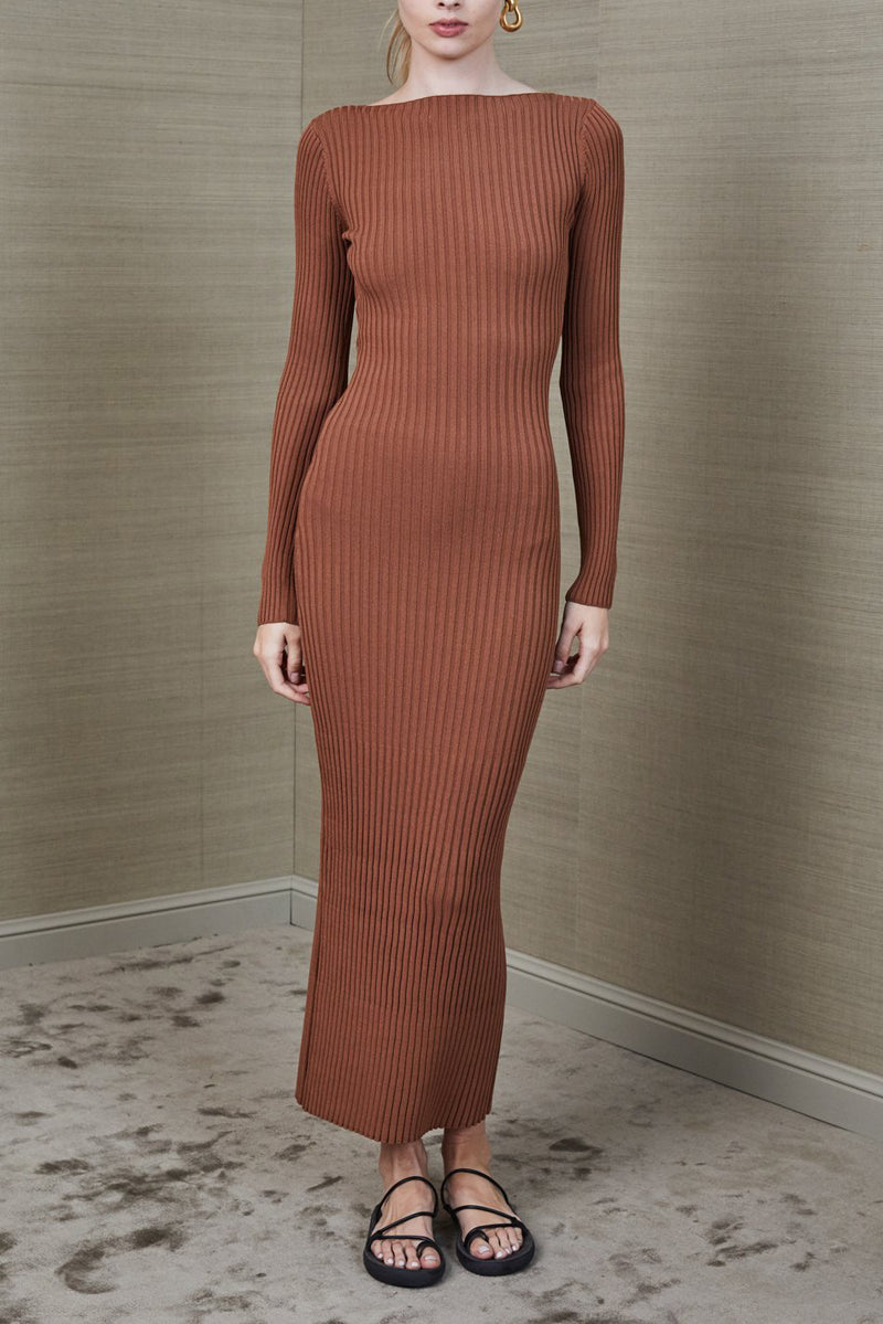 Bec and Bridge Adele Midi Dress Chocolate