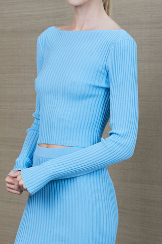 Bec and Bridge Eden LS Knit Top Azure