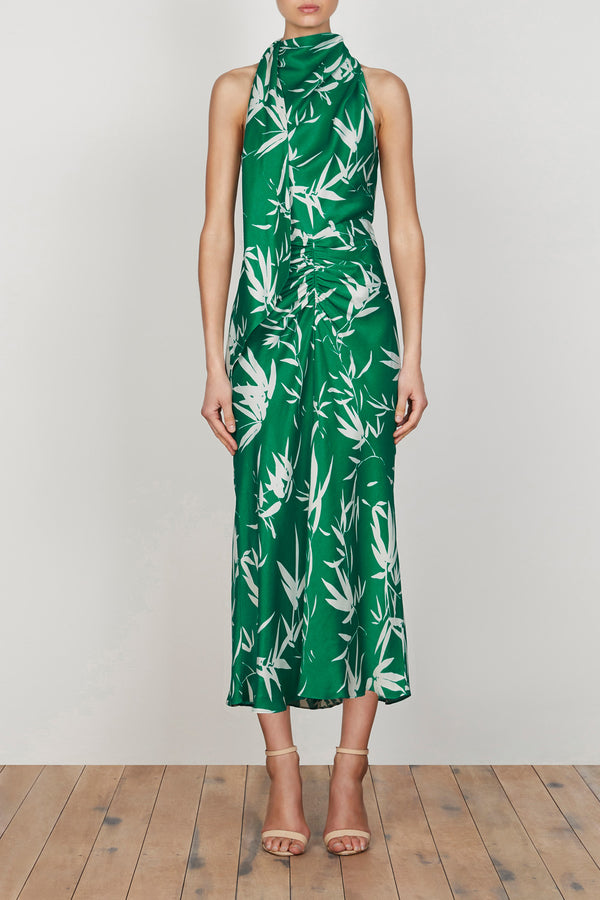 Shona Joy Ellis Scarf Neck Midi Dress