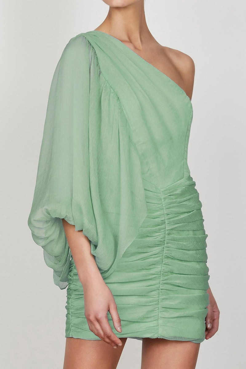 Shona Joy Desi One Shoulder Ruched Mini