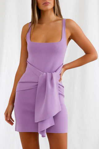 San Sloane Leora Dress Violet