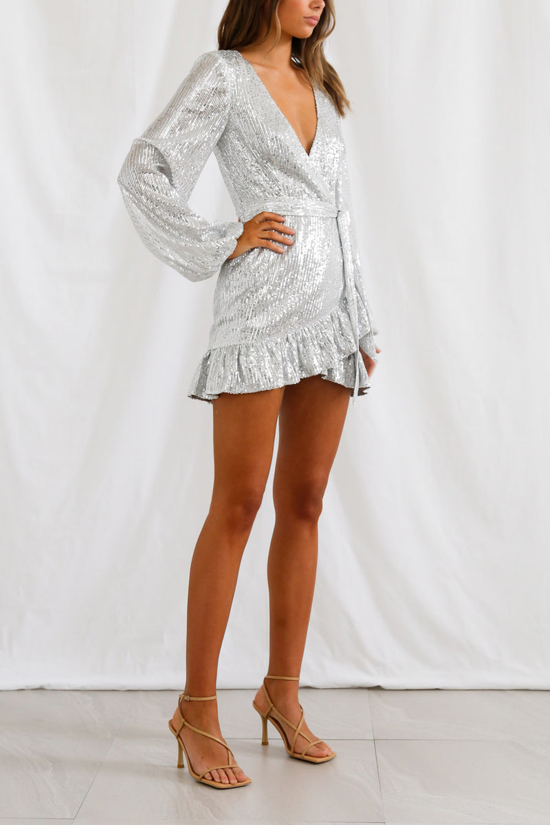 San Sloane Solaris Dress Silver