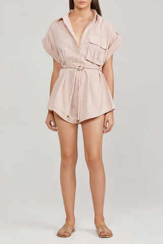 Significant Other Hartley Romper Almond Stripe